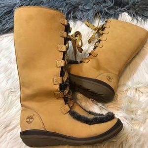 Timberland fur lined boots